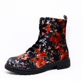 Comforta Anabel Black Multi (rood bloem)_