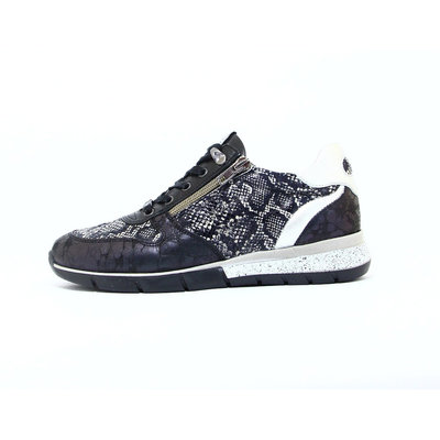Piedi Nudi Sneaker Nero/Python