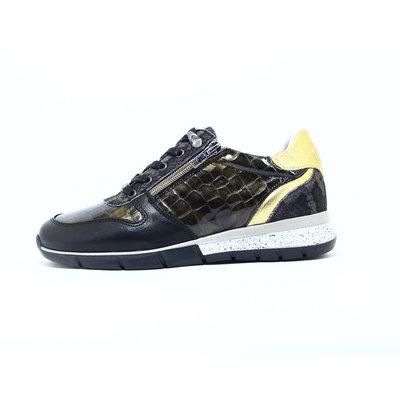 Piedi Nudi Sneaker Nero/Croco