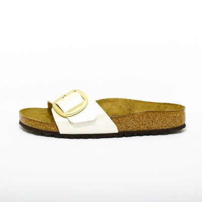 Birkenstock Madrid Big Buckle wit