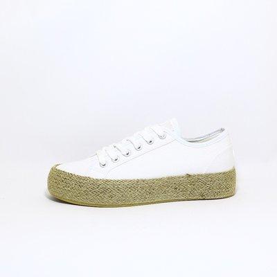 Comforta Dora Linnen sneaker White