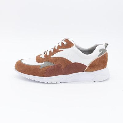 Durea Sneaker Wit/Cognac
