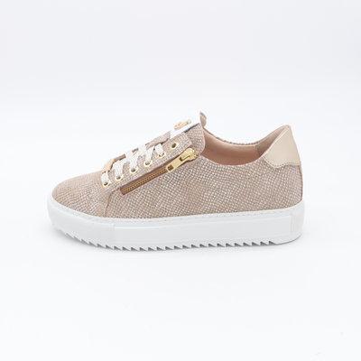 Footnotes Maud Sneaker Print Caramel met rits
