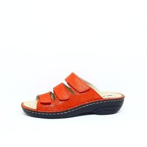Rohde 3-band slipper dames rood