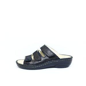 Rohde 3-band slipper dames zwart