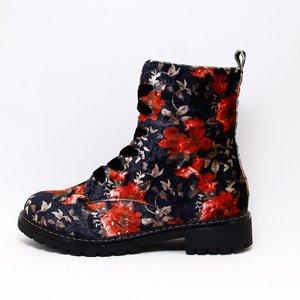 Comforta Anabel Black Multi (rood bloem)