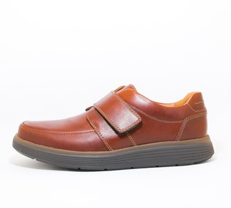 Clarks Un abode Strap Dark Tan Leather