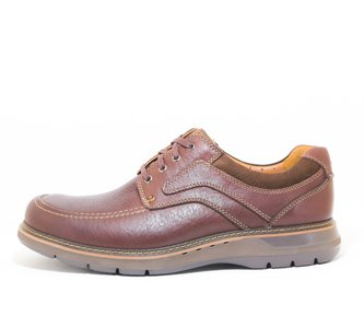 Clarks Un Ramble Lace Mahogany Leather