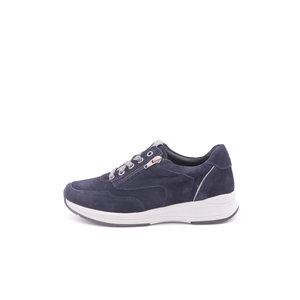 Footnotes Hally H sneaker met rits laag blauw