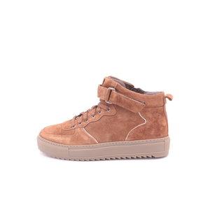 Footnotes Maud K halfhoge sneaker cognac