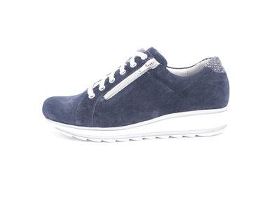 Durea EVA zool Sneaker met rits blauw