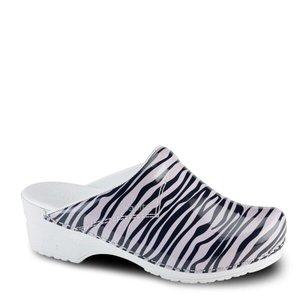 Sanita Flex Klomp Zebra Roze- Zwart