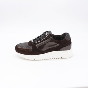 Footnotes Stacy H Sneaker Phyton Luxe d.brown